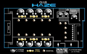 Club Haze Manila Table Layout