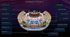 cove manila indoor beach club table and cabana layout