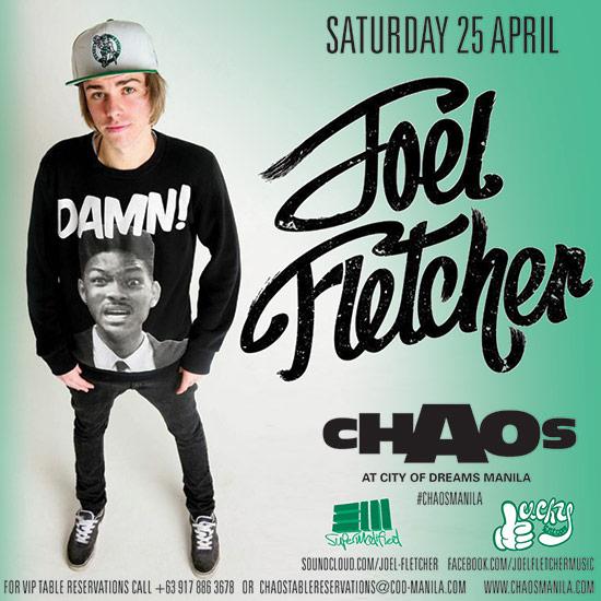 Friday April 10 - Julian Jordan  Julian Jordan Chaos