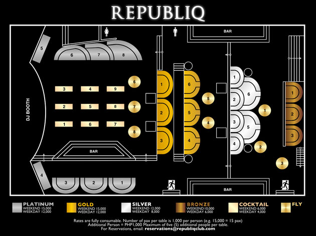Republiq Table Layout