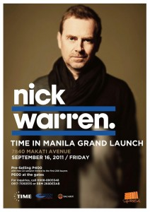 Time grand launch with Nick Warren