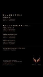 Valkyrie Mezzanine & Skybox rates