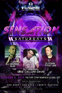 Club Haze Sensation Saturdays