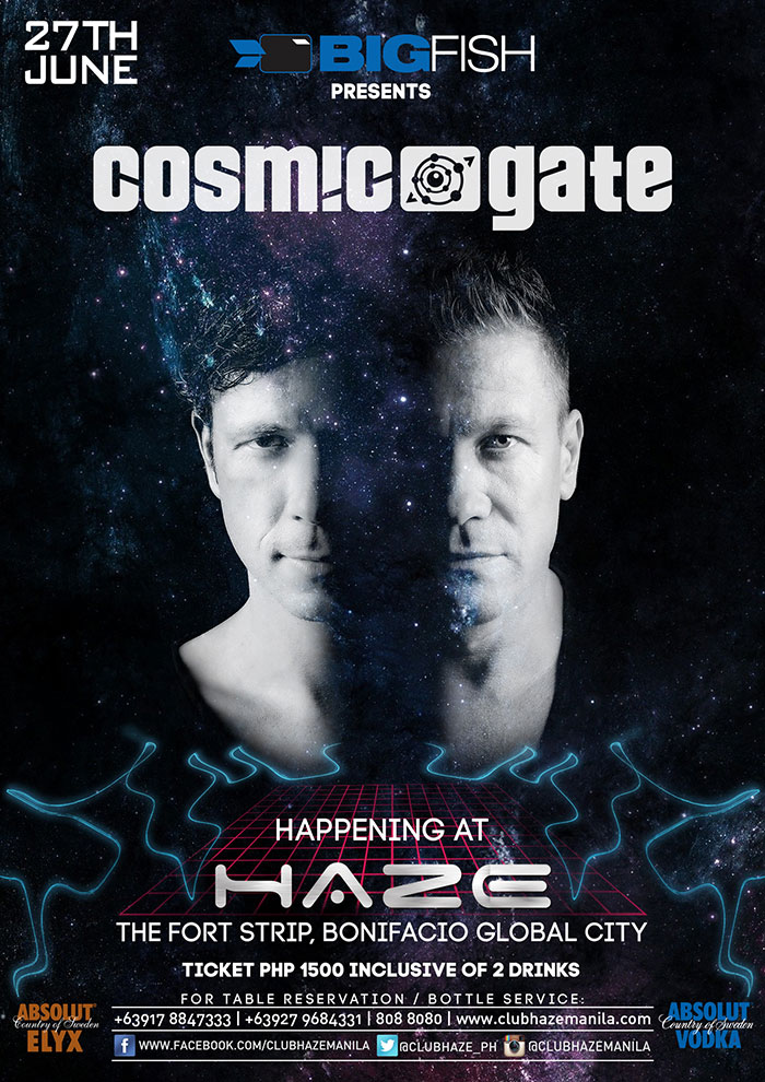 Cosmic Gate at Haze Manila