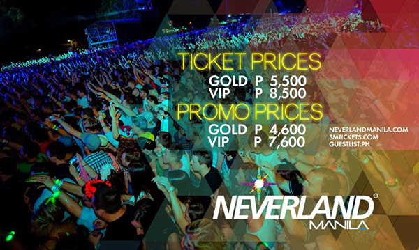 Neverland Manila Tickets