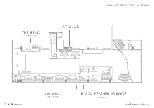 Raven floorplan for table bookings