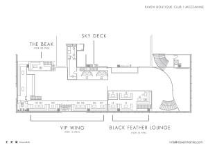 Raven floorplan for table bookings