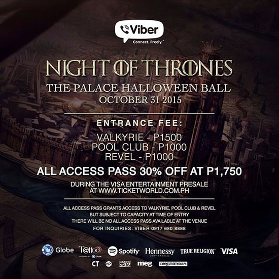 night of thrones at the palace