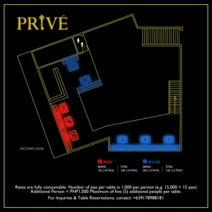 Prive Table Prices