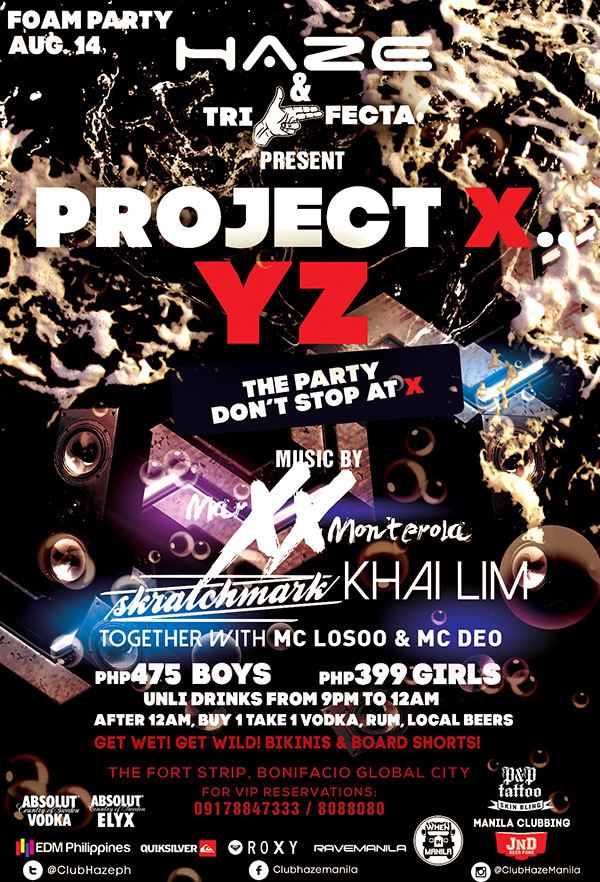projext XYZ at Haze